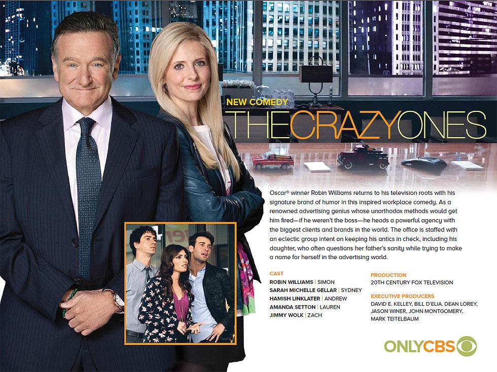 crazy ones The crazy ones est une série tv de david e kelley avec robin williams (simon roberts), sarah michelle gellar (sydney roberts) retrouvez toutes les news et les.