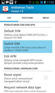 Cara Internet GSM Hp Andromax Menggunakan Andromax Tools