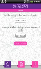 Ovulation calculator app