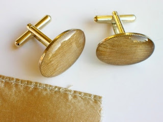 Wedding dress cufflinks for the groom