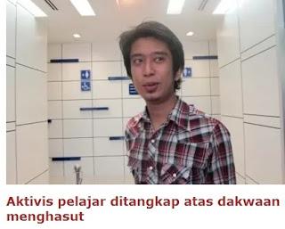 Aktivis pelajar Adam Adli ditangkap atas dakwaan menghasut
