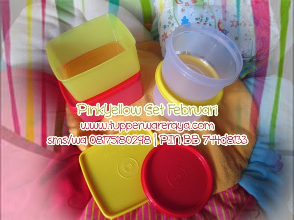 Tupperware Limited - PinkYellow Set Februari