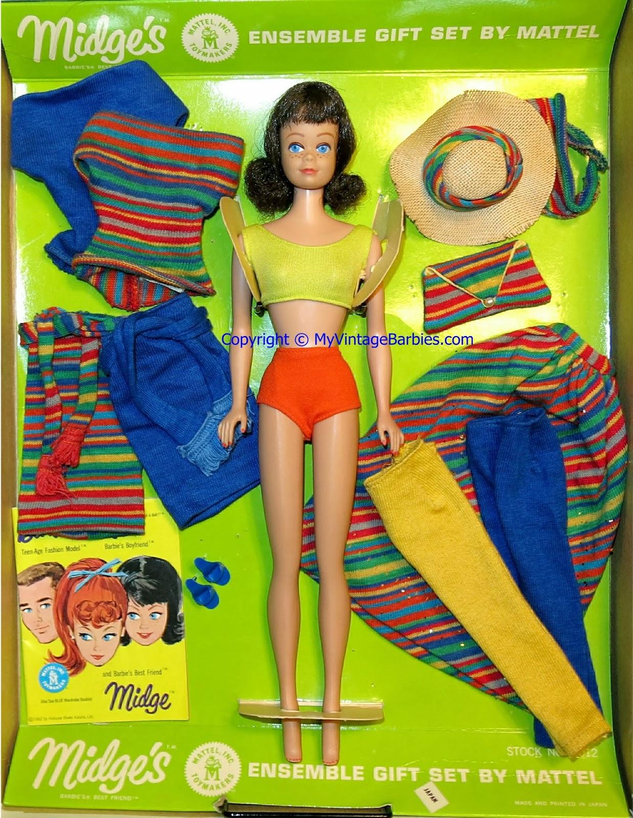 My vintage barbies barbie of the month midge s