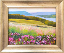"""Lake with Wild Sweet Peas"""