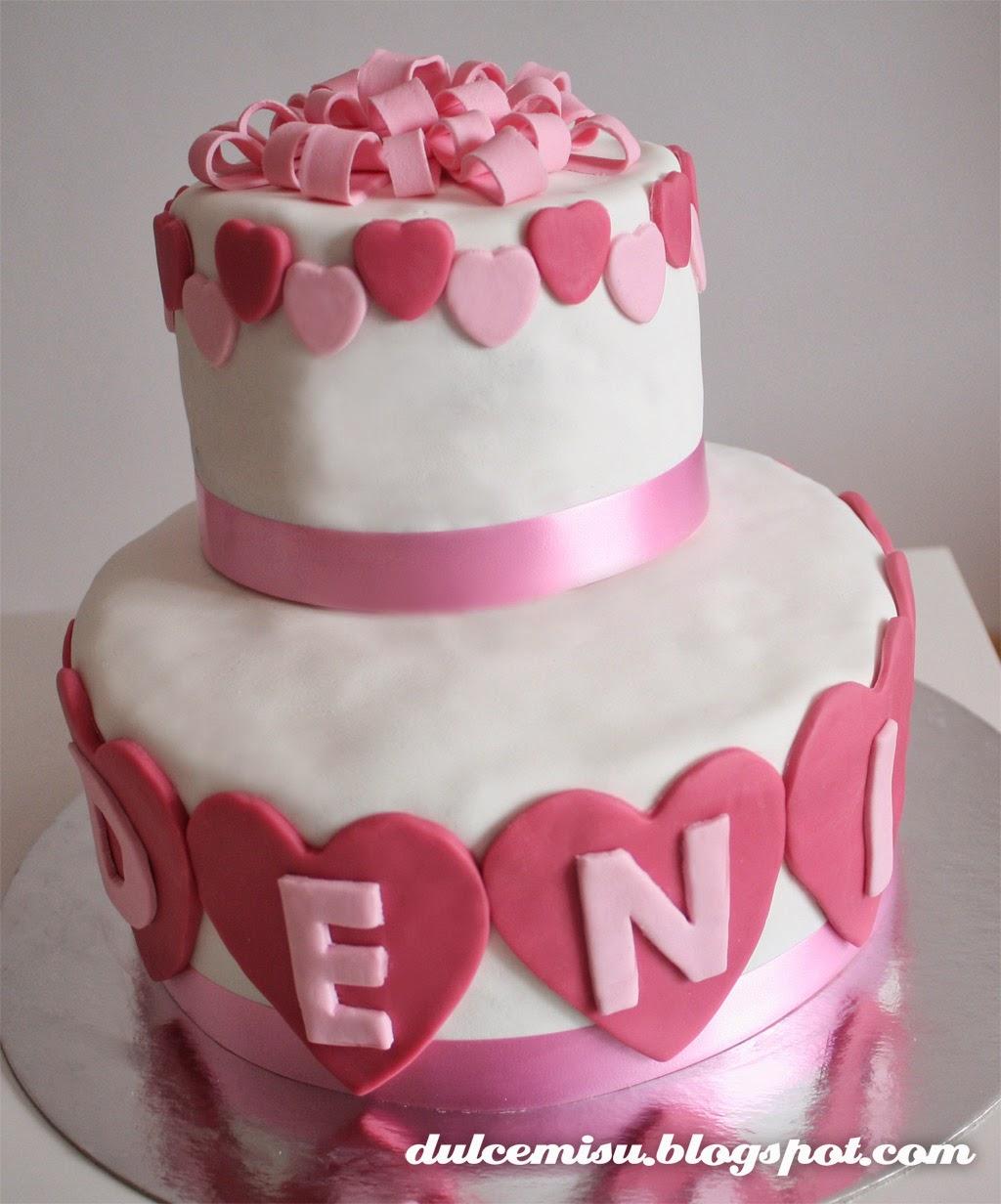 tarta, chocolate, cumpleaños, corazones, fondant, lazo, dulcemisu, Deni, fresa, buttercream
