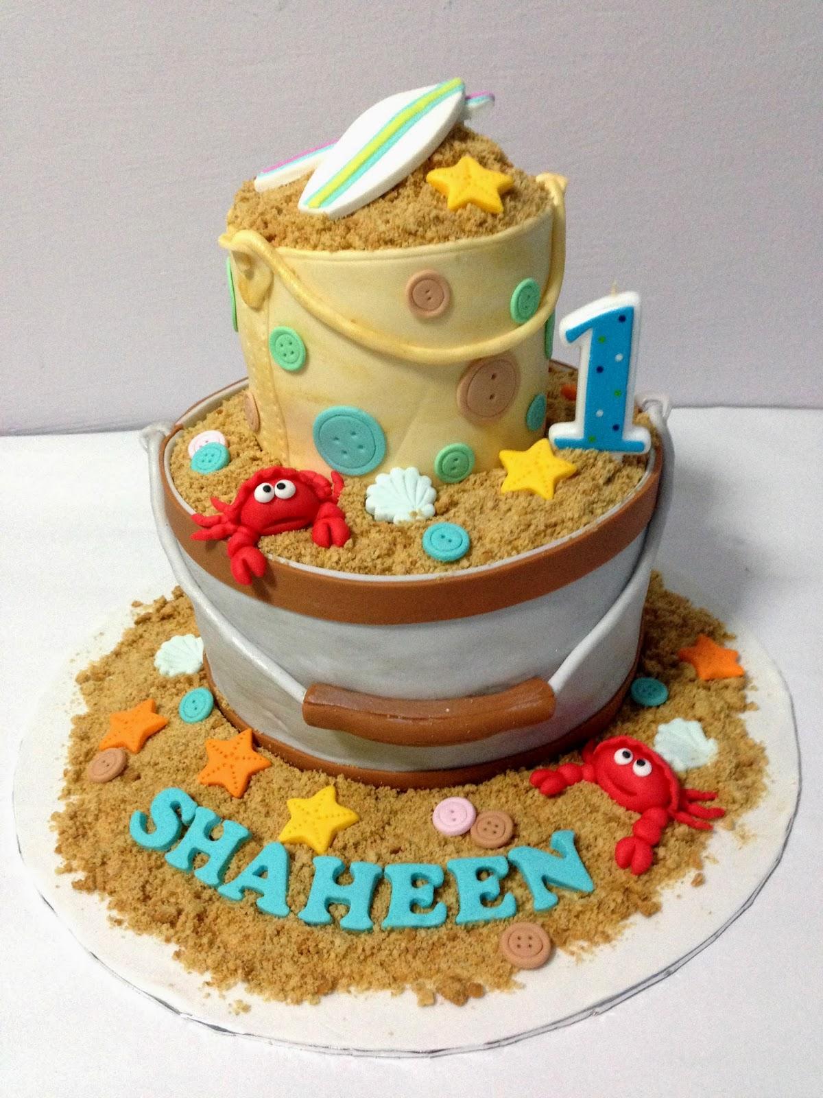 Happy Birthday Beach Cake Images