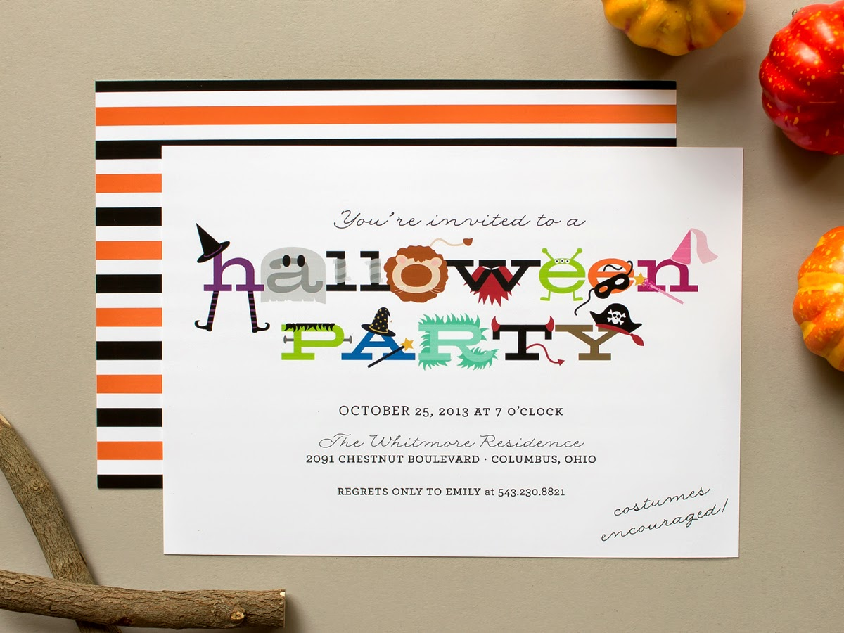 halloween costume party invitation kids party
