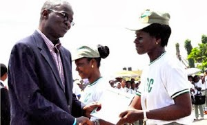 NYSC Honors Award from the governor of Lagos State - Gov. Babatunde Fashola