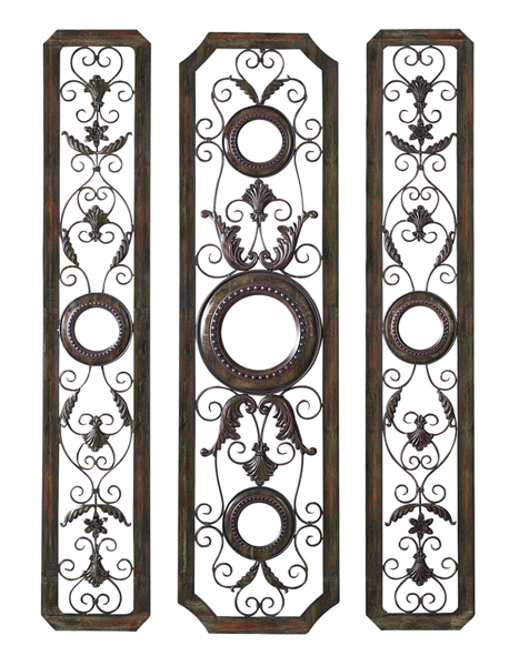 Large Mediterranean Wall Decor : Large mediterranean metal and mirror wall grille