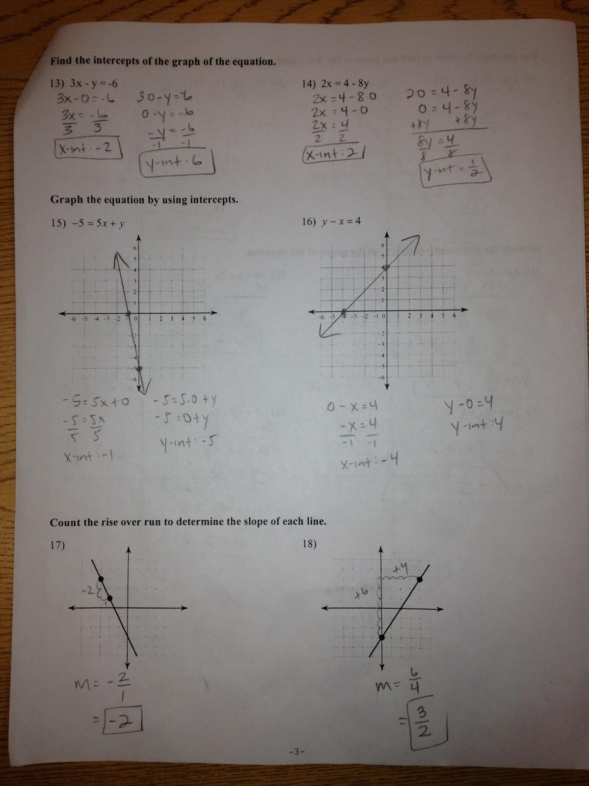 Fantastic Pre Algebra 2 Sketch - General Worksheet ...
