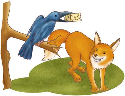 El zorro y el cuervo, cuentos para niños
