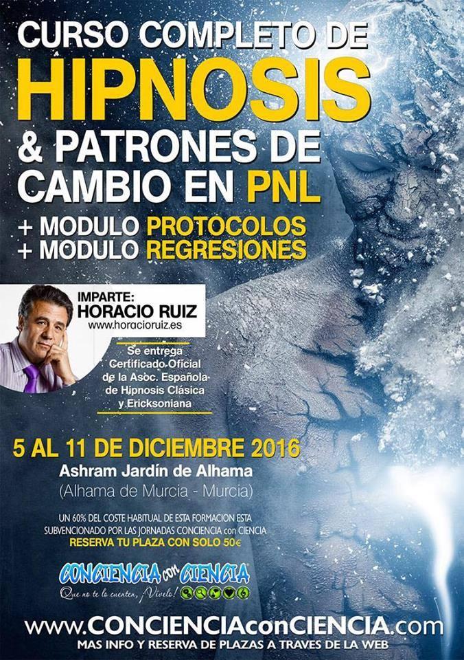 Murcia. Curso de Hipnosis. 5 - 11 dic.