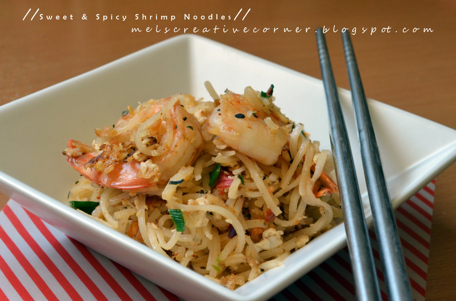 Thai inspired shrimp noodles for At home thai cuisine