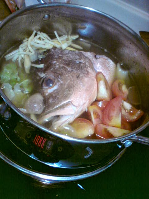 Crazeeeat a week of experimental cooking for Fish head soup