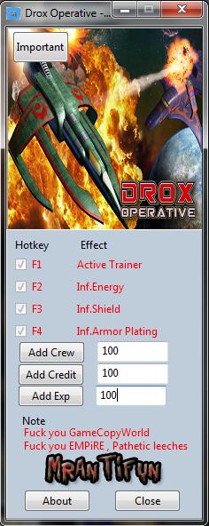 Drox Operative - Invasion of the Ancients V1.036 Trainer +6 MrAntiFun