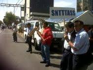 Protestan Trabajadores de Mexicana ante las oficinas de SCT.