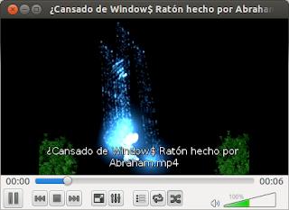 Imagen 2, visualización del VLC