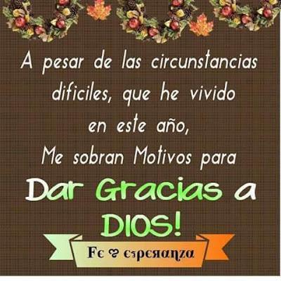 Dar Gracias  A Dios Por Este Año