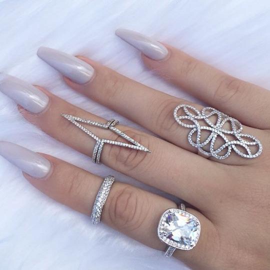 Glitter Simple Cute Nails