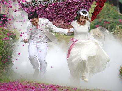 Acara unik pengantin Thailand rai perkahwinan