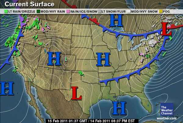 Stormy Lady Weather Blog February 2011 – Weather Channel Travel Map