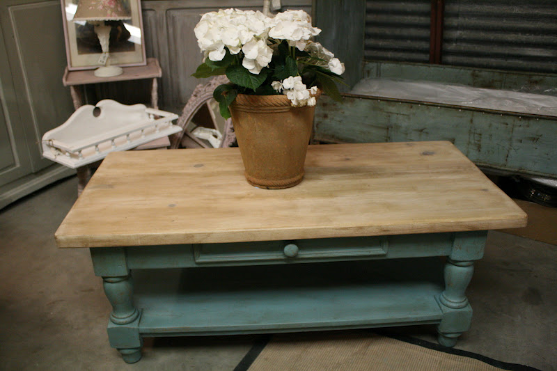 Reloved rubbish provence coffee table Painted coffee table