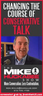 Screenshot of Cumulus Media Networks Huckabee Ad