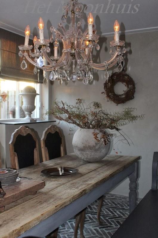 Het moonhuis onze oude waaltjesvloer - Tafel josephine wereldje van het huis ...