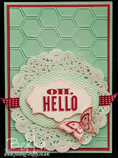 Oh Hello Welcome to the Stampin' Superstars Card by Stampin' Up! Demonstrator Bekka Prideaux - find out about joining here