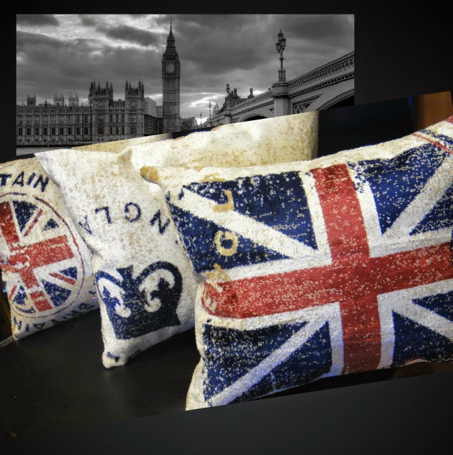 Комплект подушек в гостиную Лондон Англия - подарок женщине, подарок подростку, подарок мужчине