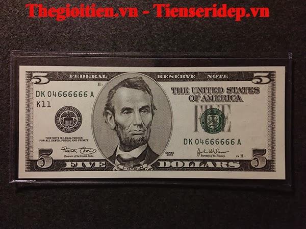 tờ tiền 5 USD lục 6