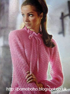 1960's Knitting pattern for a  Romantic Mood frilly blouse