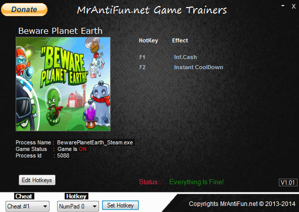 Beware Planet Earth Steam Trainer +2 MrAntiFun