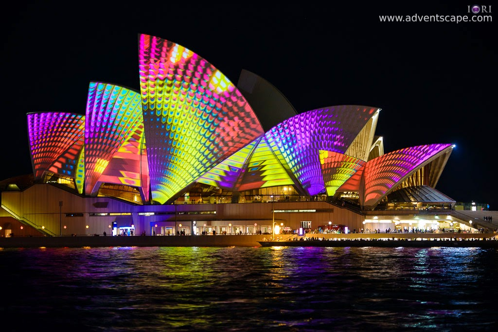 Philip Avellana, Australian Landscape Photographer, Vivid Sydney, Event, CBD, NSW, New South Wales, Australia, lighting, long exposure, 2013, light pattern, Sydney Opera House, hologram