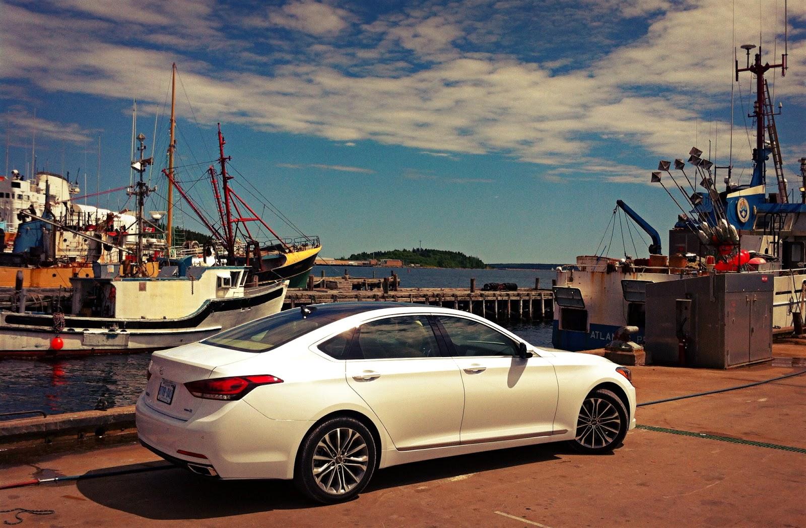 2015 Hyundai Genesis Lunenburg wharf