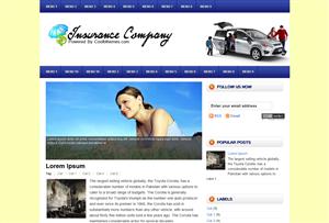 Insurance Company Blogger Template