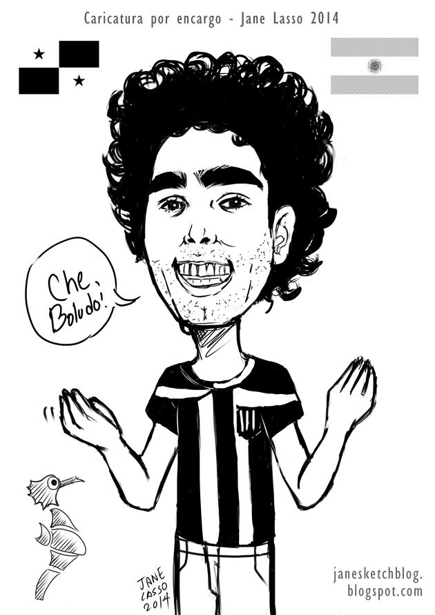 Caricatura de viajero argentino