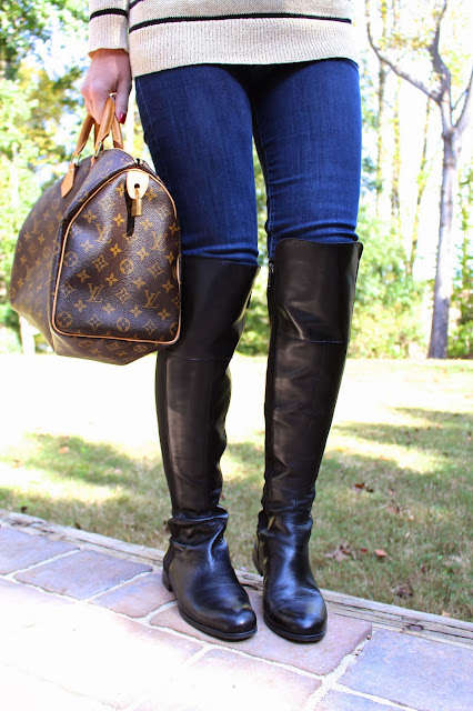 Tiffanyd some fall weekend fun and ootd for Franco sarto motor over the knee boots