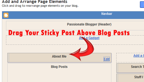 How to Create a Sticky Post on Blogger : eAskme