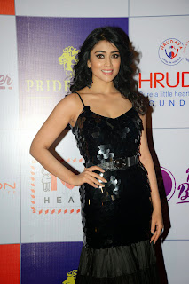 Actress Shriya Saran Latest Picture in Black Long Dress at CCL Charity Dinner 6