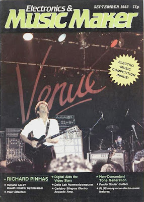 Portada del número de septiembre de la revista Electronics & Music Maker con una fotografía del concierto de Richard Pinhas en The Venue