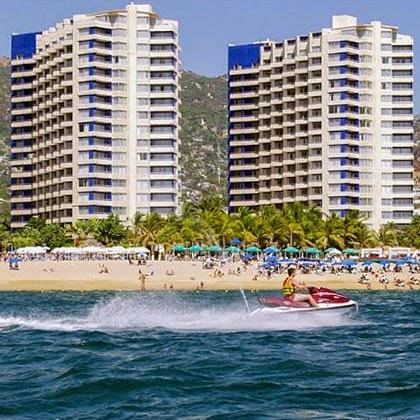 imagen en el hotel Playa Suites Acapulco vista desde la playa