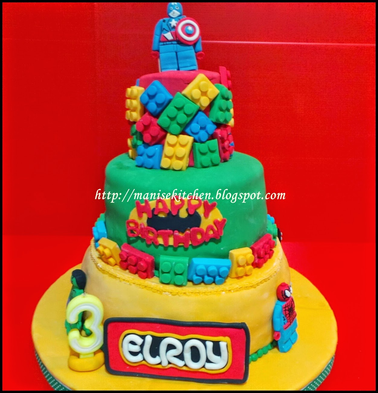 Manise Kitchen Lego Superhero Birthday Cake For Elroy Lopulisa