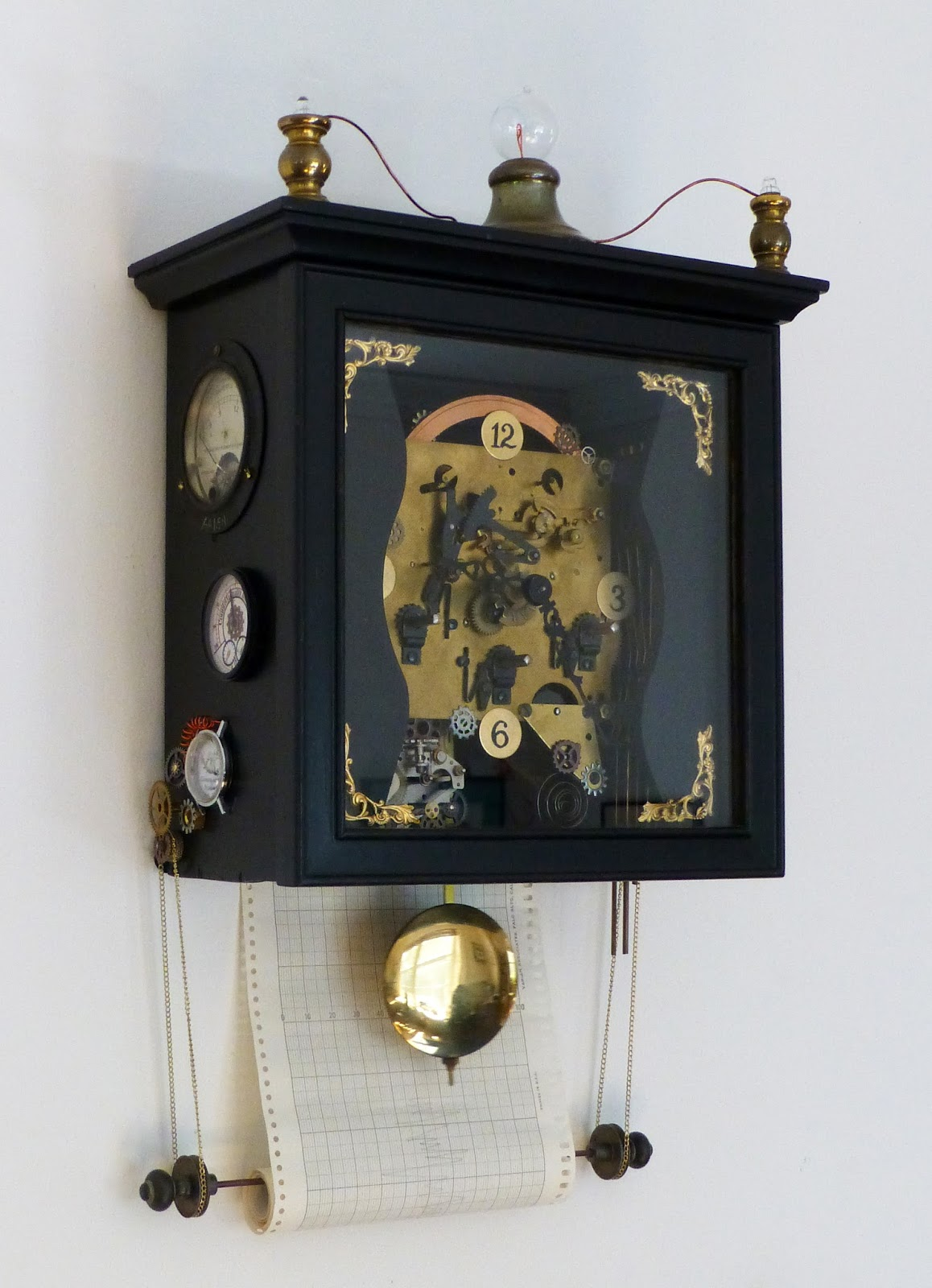 Black And White Steampunk Clock