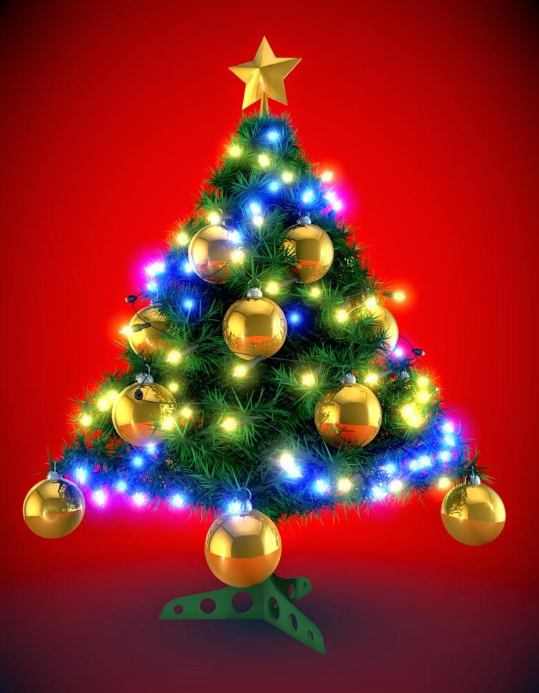 imagen de luces con arbol de navidad