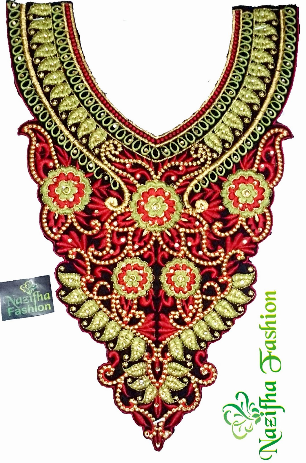Embroidery Neck Work In Cloth