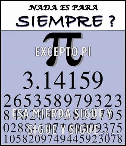 Cuadro que describe el numero PI.