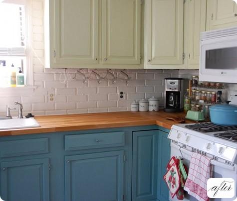 Dress My Home: Painting your kitchen cabinets