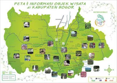 Peta Informasi Obyek Wisata di Kabupaten Bogor