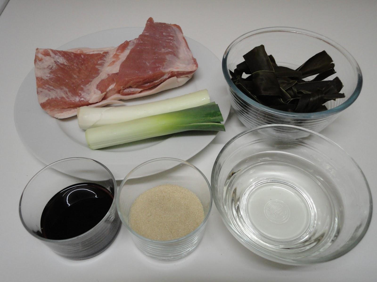 Ma vraie cuisine japonaise poitrine de porc mijot - Ma vraie cuisine japonaise ...